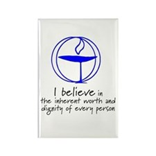 Inherent worth and dignity Rectangle Magnet (10 pa
