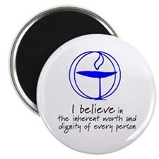 "Inherent worth and dignity 2.25"" Magnet (10 pack)"
