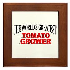 """""""The World's Greatest Tomato Grower"""" Framed Tile"""
