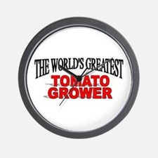 """""""The World's Greatest Tomato Grower"""" Wall Clock"""