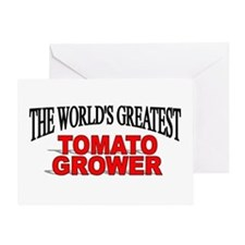 """The World's Greatest Tomato Grower"" Greeting Card"