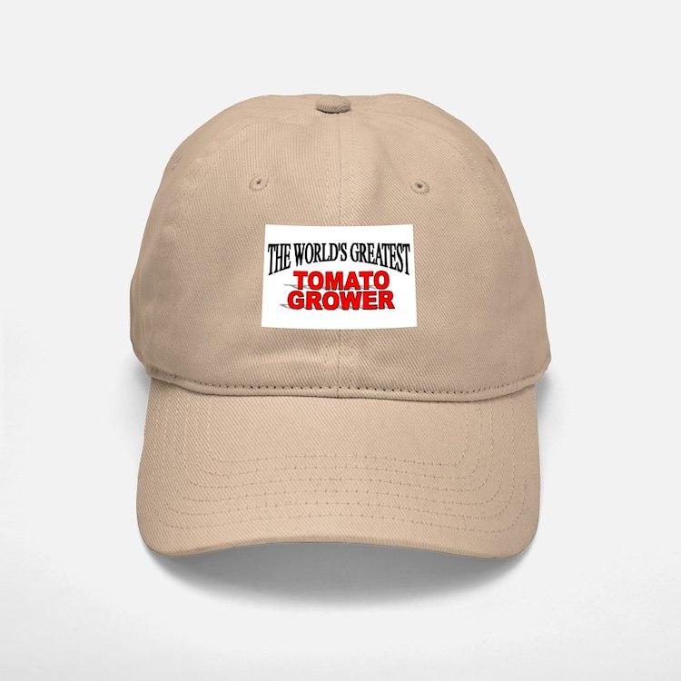 """""""The World's Greatest Tomato Grower"""" Baseball Baseball Cap"""