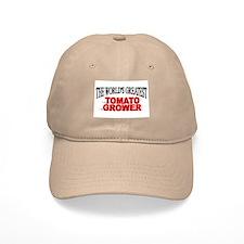 """The World's Greatest Tomato Grower"" Baseball Cap"