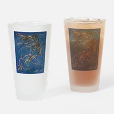 Dragonfly Flit Blues Drinking Glass