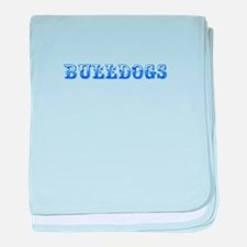 Bulldogs-Max blue 400 baby blanket