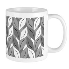 Gray Leaf Pattern Mug