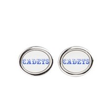 Cadets-Max blue 400 Oval Cufflinks