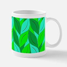 Green Leaf Pattern Mug