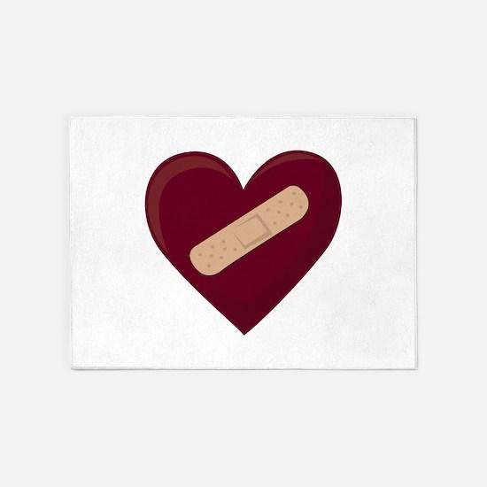 Bandaged Heart 5'x7'Area Rug