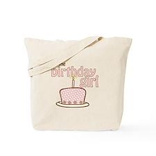 the birthday girl pink brown Tote Bag