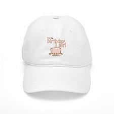 the birthday girl pink brown Baseball Cap