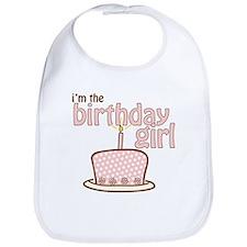 the birthday girl pink brown Bib