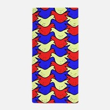 Red, Yellow and Blue Birds Beach Towel