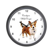 Cute Corgi dogs Wall Clock