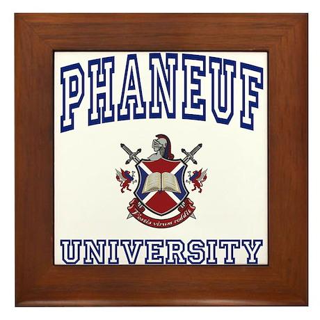 PHANEUF University Framed Tile