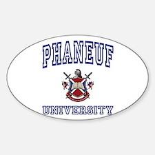 PHANEUF University Oval Decal