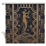 Art deco Shower Curtains