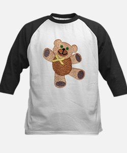Dancing Fuzzy Teddy Bear with Yell Baseball Jersey