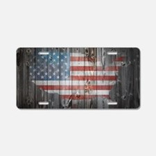 Cute Patriotic Aluminum License Plate