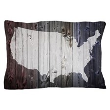 Funny Us map Pillow Case
