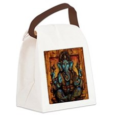 Blue Ganesha Canvas Lunch Bag
