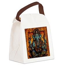 Blue Ganesha Canvas Lunch Bag