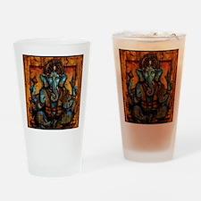 Blue Ganesha Drinking Glass