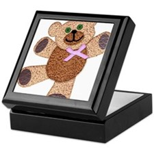 Dancing Fuzzy Teddy Bear with Pink Bo Keepsake Box