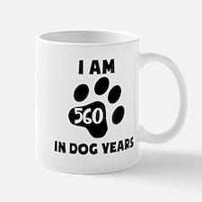 80th Birthday Dog Years Mugs