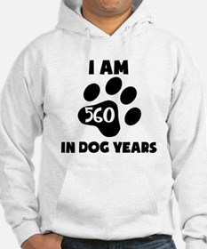 80th Birthday Dog Years Hoodie