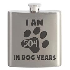 72nd Birthday Dog Years Flask
