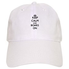 Keep Calm and Boars ON Baseball Cap