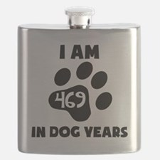 67th Birthday Dog Years Flask