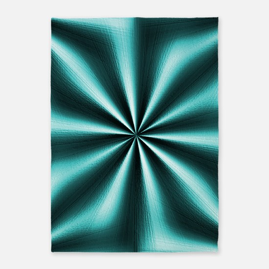 Graphic Teal 5'x7'Area Rug