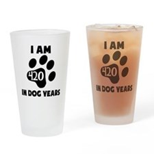 60th Birthday Dog Years Drinking Glass