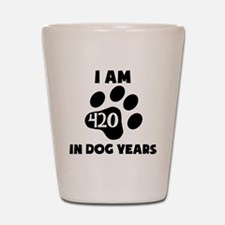 60th Birthday Dog Years Shot Glass