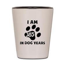 55th Birthday Dog Years Shot Glass
