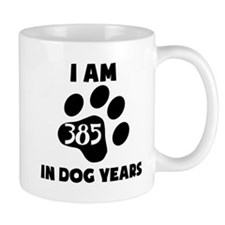 55th Birthday Dog Years Mugs