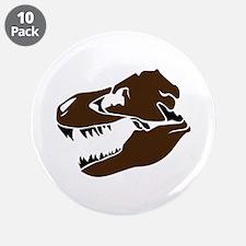 """T-Rex Skull 3.5"""" Button (10 pack)"""