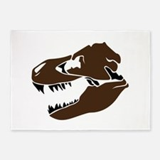 T-Rex Skull 5'x7'Area Rug