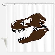 T-Rex Skull Shower Curtain