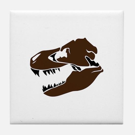 T-Rex Skull Tile Coaster