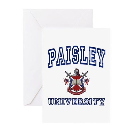 PAISLEY University Greeting Cards (Pk of 10)