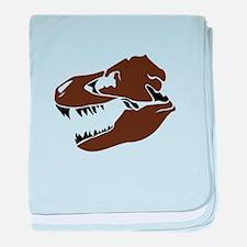 T-Rex Skull baby blanket