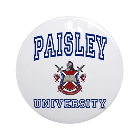 PAISLEY University Ornament (Round)