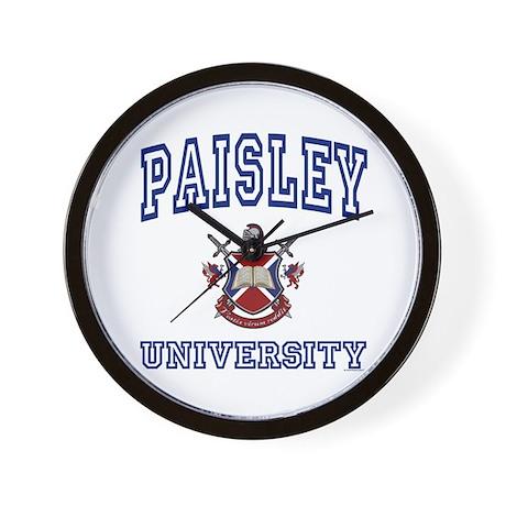PAISLEY University Wall Clock