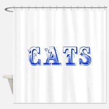 cats-Max blue 400 Shower Curtain
