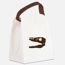 Velociraptor Skull Canvas Lunch Bag