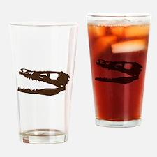 Velociraptor Skull Drinking Glass