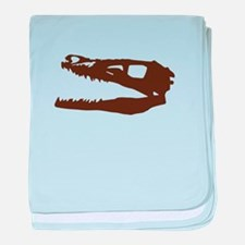 Velociraptor Skull baby blanket